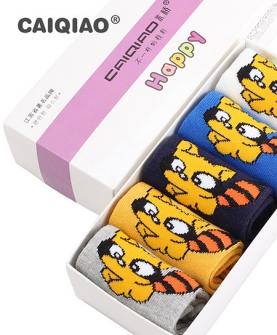 中大童学生袜5双盒装