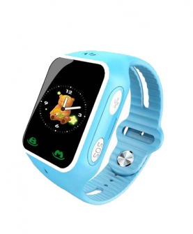 芭米小V升级版儿童智能手表(蓝色))