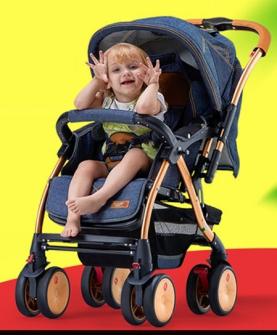 可坐可躺加宽婴儿车