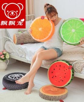 创意3D水果坐垫西瓜靠垫
