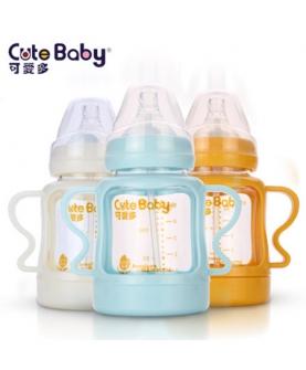 新生婴儿防爆晶钻玻璃奶瓶