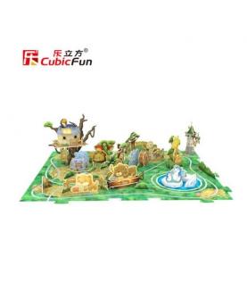 动物园游乐场模型儿童DIY玩具