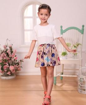 女童夏日裙套装