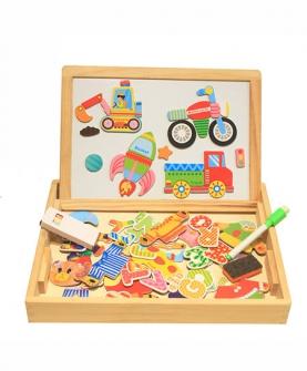 磁性动物拼图玩具