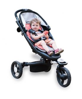 婴儿车蓝白印花凉垫