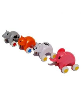 可爱动物小车玩具