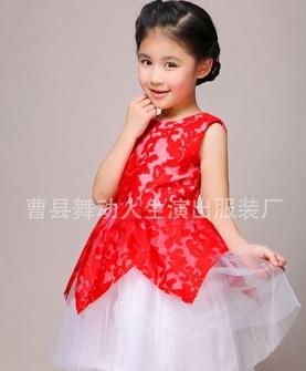 六一儿童演出服(红色)