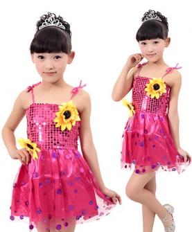 儿童演出服少儿舞蹈纱裙