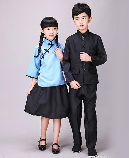 儿童儿童民国时期中山装合唱服