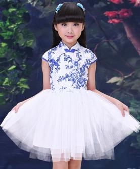 女童旗袍古装裙