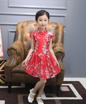 女童旗袍(红色)