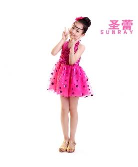 儿童演出服表演服装(玫红)
