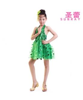 儿童演出服表演服装(绿色)