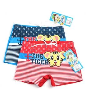 军风小老虎卡通儿童游泳裤