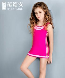 女童连体裙式游泳衣