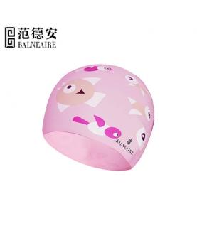 儿童防水硅胶泳帽 (粉色)