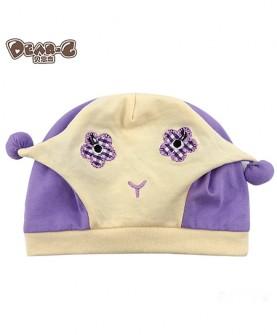 宝宝纯棉胎帽可爱笑脸帽