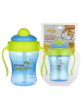 婴儿软圆吸管水杯
