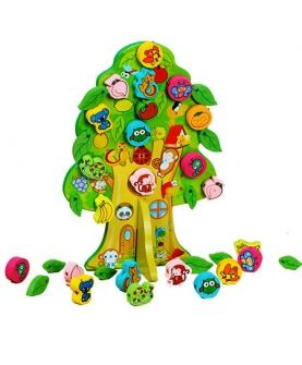 动物果树串珠木制玩具穿线玩具