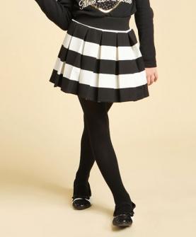黑色雏菊系列百褶裙