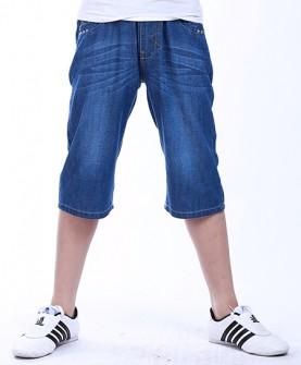 薄款七分牛仔裤