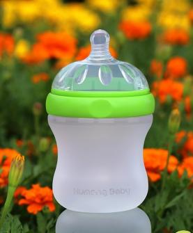 新生儿防胀气特宽口经硅胶奶瓶160ml