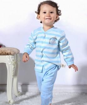幼儿天然有机棉睡衣(蓝色)