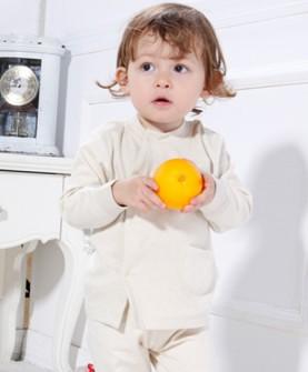 儿童有机棉睡衣(淡黄色)
