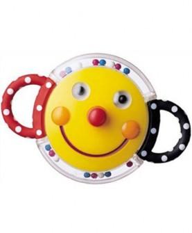 宝宝手抓笑脸滚珠摇铃玩具