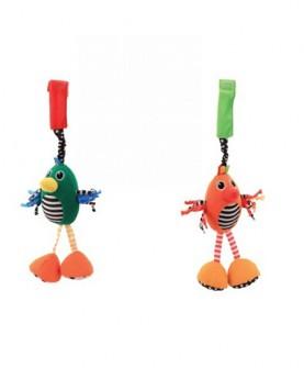 五彩小鸟响铃布艺玩具