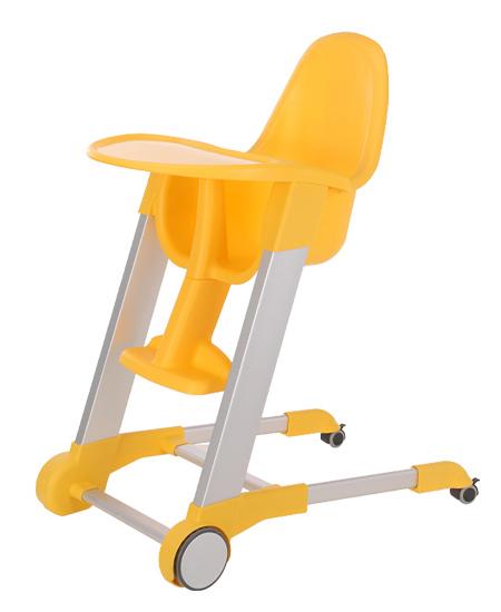 集得可移动餐椅黄