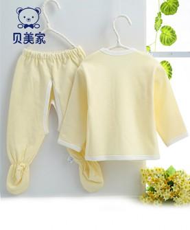 纯棉系带新生儿内衣