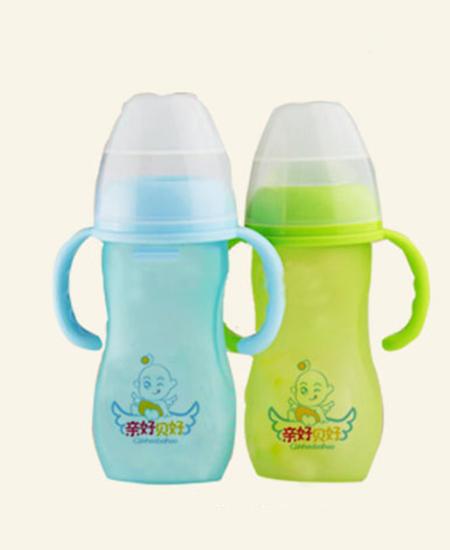親好貝好奶瓶仿母乳化感溫寬口玻璃奶瓶280ML代理,樣品編號:55954