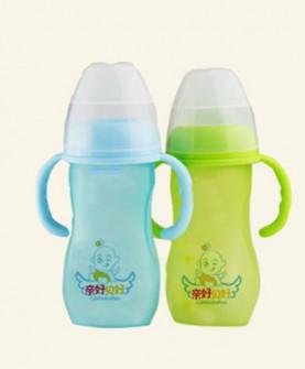 仿母乳化感温宽口玻璃奶瓶280ML