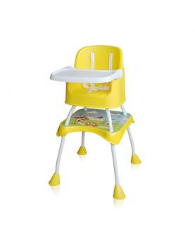 便捷折叠高脚椅餐椅(黄色)