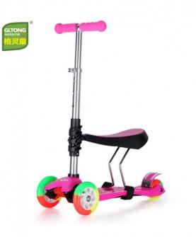 闪光彩轮带座滑板车