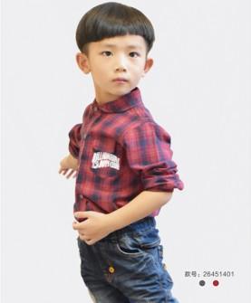 男童格子衬衫
