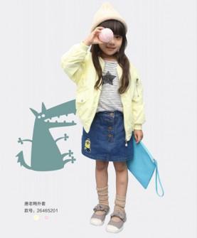 秋季女童唐老鸭外套