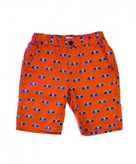 男童红色太阳眼镜印花短裤