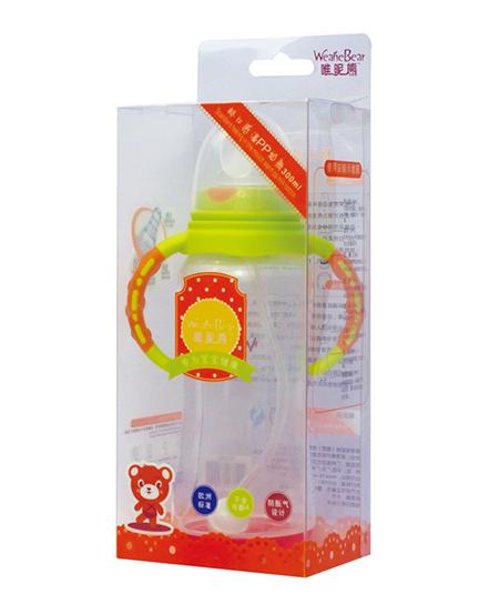 唯昵熊标口感温PP奶瓶210ml