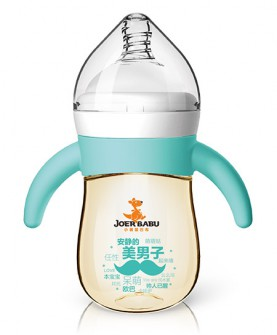 硅胶手柄PPSU自动宽口奶瓶BP-855