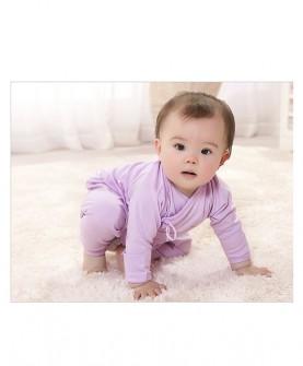 新生儿和尚服开裆裤套装