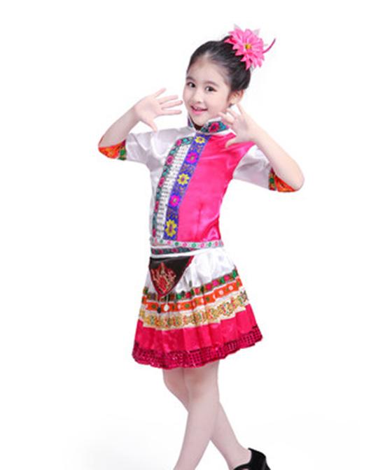 JONBOBO儿童童鞋童装儿童少数民族服装花瑶族苗族服饰代理,样品编号:64638