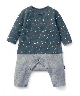 婴儿童装男女长袖蛙式连体衣