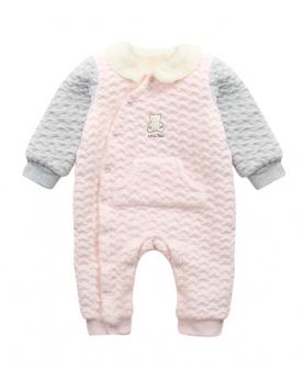 婴儿连体衣秋冬夹棉加绒