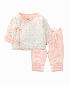 新生儿衣服绑绳棉服套装
