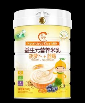 益生元营养米乳-胡萝卜+蓝莓配方