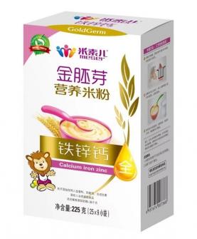 铁锌钙金胚芽营养米粉盒装