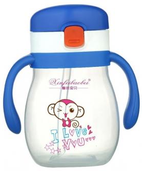 婴儿奶瓶小猴蓝色