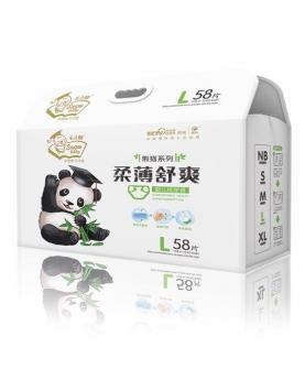 熊猫柔薄舒爽尿裤L58片